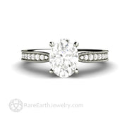 8x6 Oval Cut Moissanite Engagement Ring Ethical Affordable Solid Gold