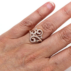 Rare Earth Jewelry Georgian Diamond Ring on Finger