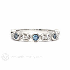 Rare Earth Jewelry Aquamarine March Birthstone Ring