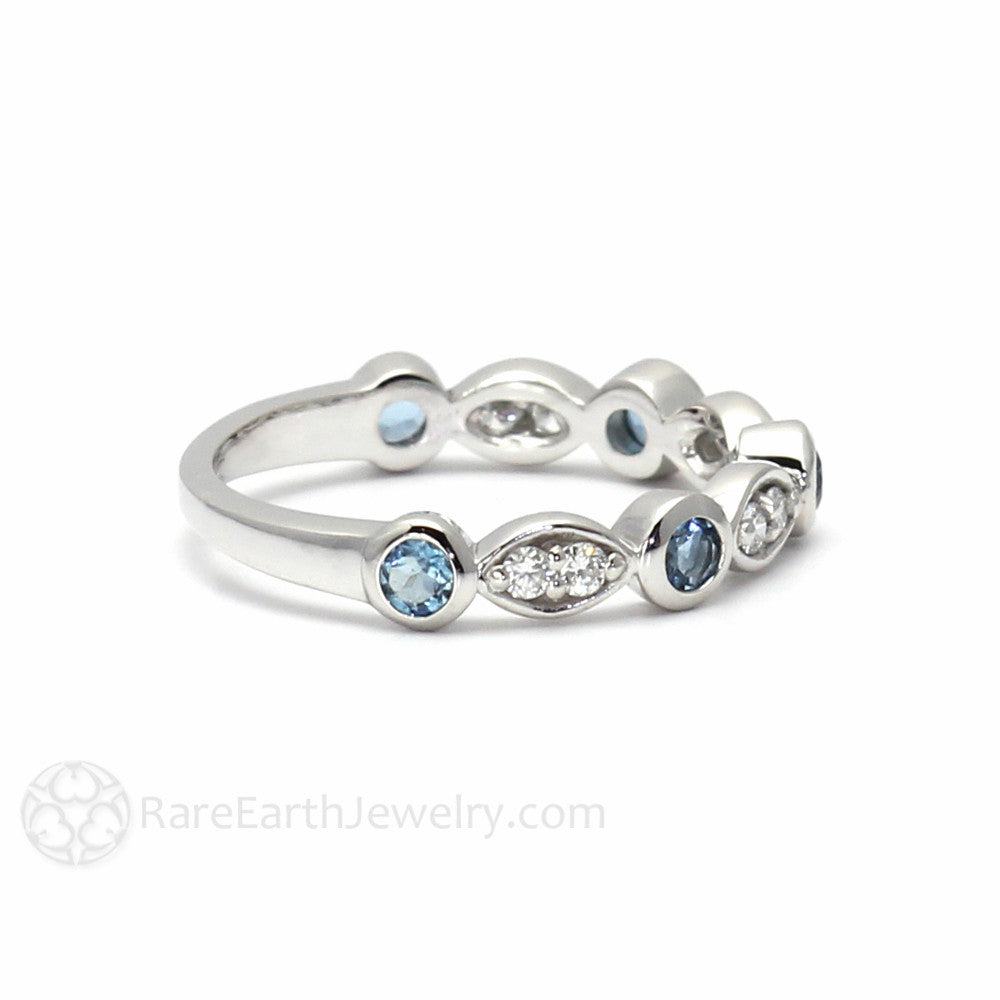 aquamarine ring birthstone rings for march promise engagement media her natural
