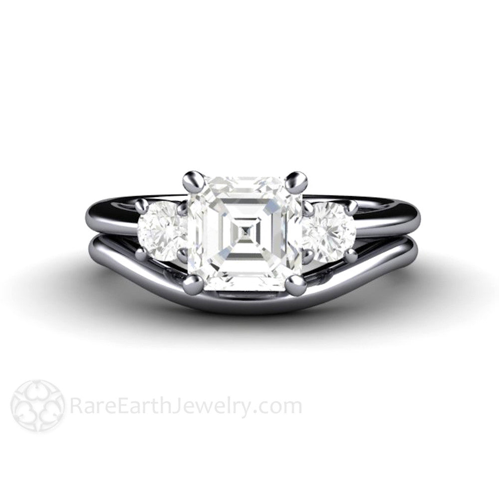 custom media eternity pristine forever and moissanite diamonds round one engagement anniversary platinum genuine ring