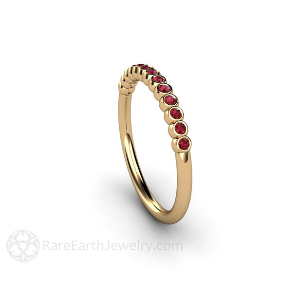 Ruby Wedding Anniversary Ring 14K Gold Rare Earth Jewelry