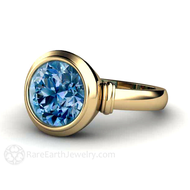 14K Gold Blue Spinel Ring by Rare Earth Jewelry