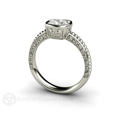 Rare Earth Jewelry Diamond Alternative Moissanite Ring