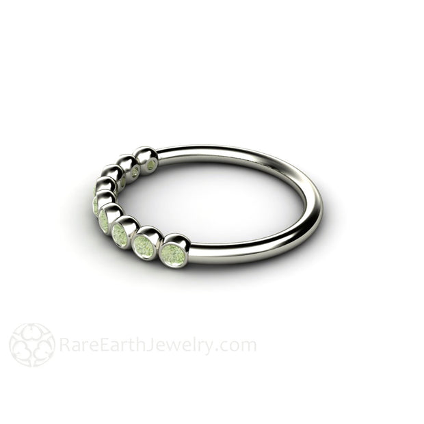 Green Diamond Stacking Ring Rare Earth Jewelry