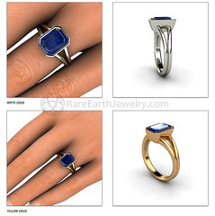 Blue Sapphire Ring September Birthstone or Anniversary Rare Earth Jewelry