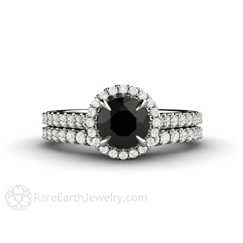 cut engagement rings ring lajerrio round silver jewelry black white sterling sapphire and