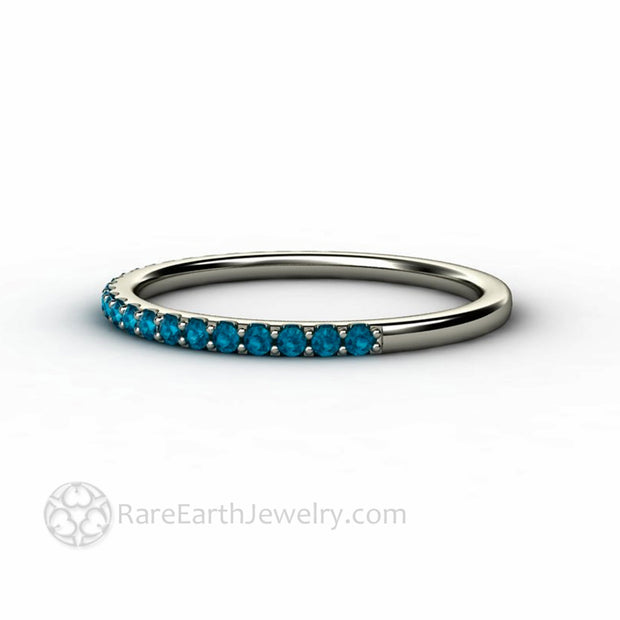 Blue Diamond Stacking Ring Anniversary Band