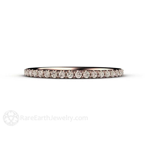 Petite Light Brown Diamond Wedding Ring or Anniversary Band