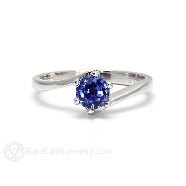 14K September Birthstone Ring Ceylon Sapphire Solitaire Rare Earth Jewelry