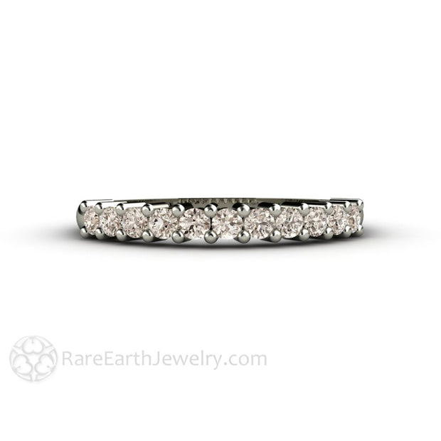 Rare Earth Jewelry Brown Diamond Wedding Ring or Stacking Anniversary Band 14K or 18K Gold Round Cut Diamonds