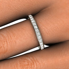 White Gold Diamond Right Hand Band Channel Setting Rare Earth Jewelry