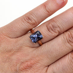 Color Change Sapphire Ring on Finger Rare Earth Jewelry