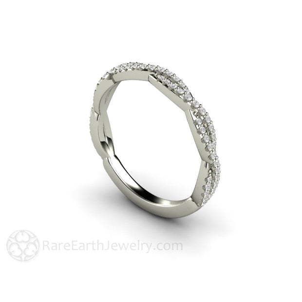 14K Natural Diamond Infinity Ring April Birthstone Rare Earth Jewelry