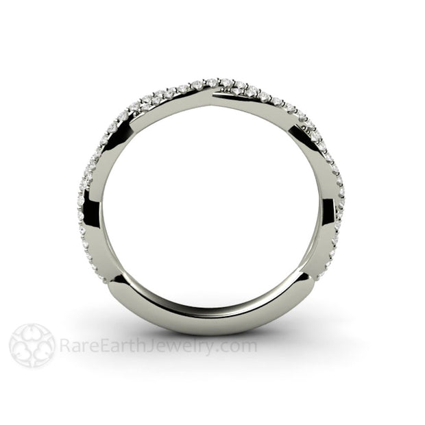Infinity Ring Conflict Free Round Cut Diamonds Rare Earth Jewelry