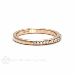Matching Wedding Band Cushion Morganite Ring Rare Earth Jewelry