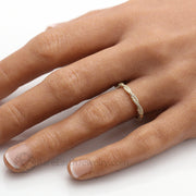 Diamond Infinity Wedding Ring Anniversary Band Twisted Rope Design by Rare Earth Jewelry