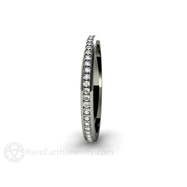 Rare Earth Jewelry Diamond Anniversary Band or April Birthstone Stacking Ring