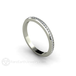 Rare Earth Jewelry Diamond Eternity Stacking Ring 14K or 18K Gold