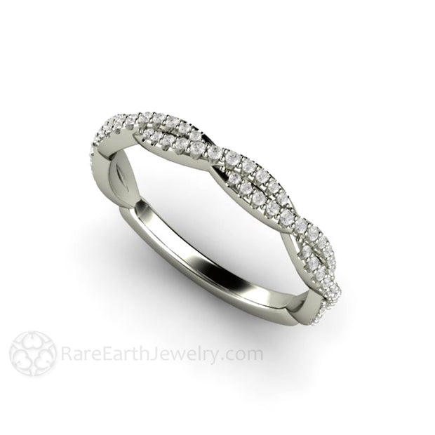 Rare Earth Jewelry Pave Diamond Infinity Ring