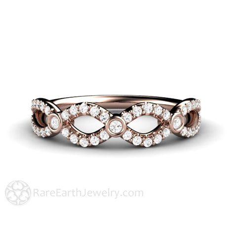 Diamond Infinity Wedding Ring Anniversary Band