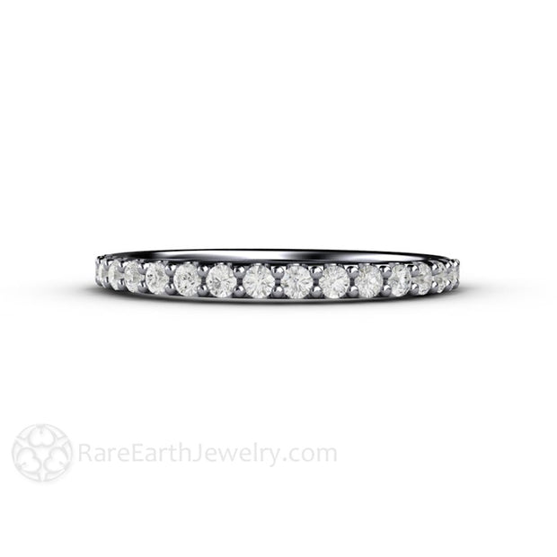 Rare Earth Jewelry Platinum Pave Diamond Wedding Ring