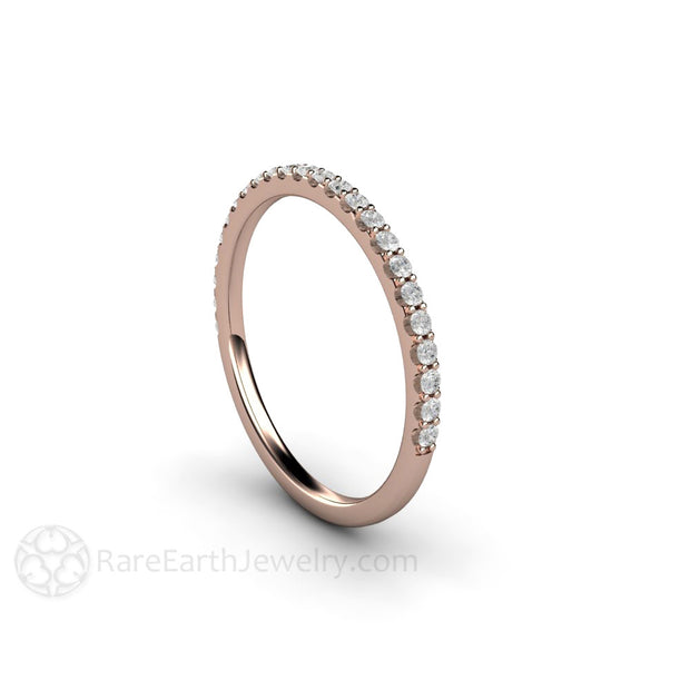 Rose Gold Diamond Wedding Ring Round Cut Natural Diamonds Rare Earth Jewelry