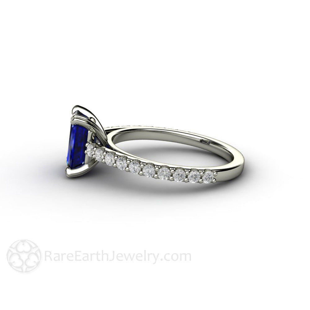 anniversary sapphire band wedding half white gold blue ring media diamond eternity set bands bridal promise