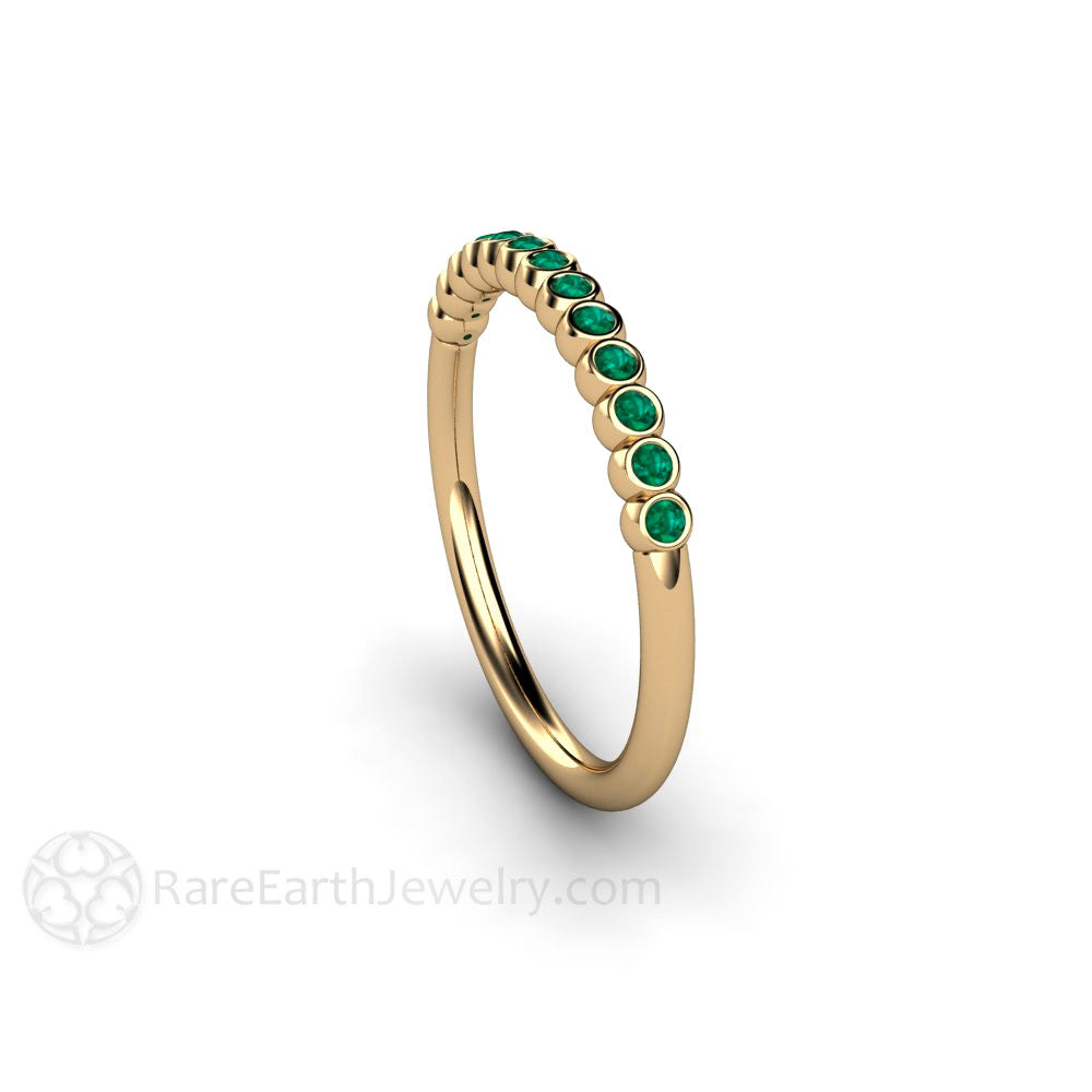a3735c768615d Tiny Bubbles Emerald Anniversary Band Stacking Ring May Birthstone