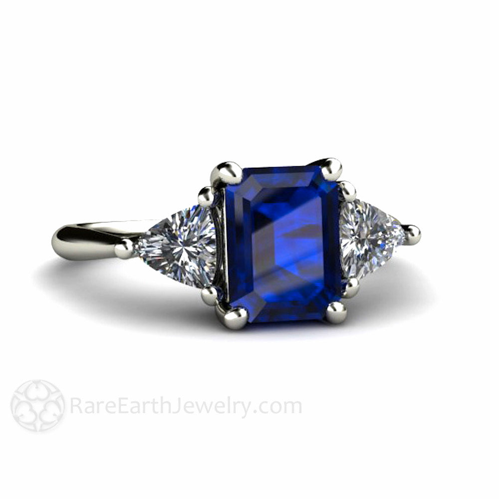 earth three emerald and cut products white jewelry stone sapphire ring blue accents with rare engagement
