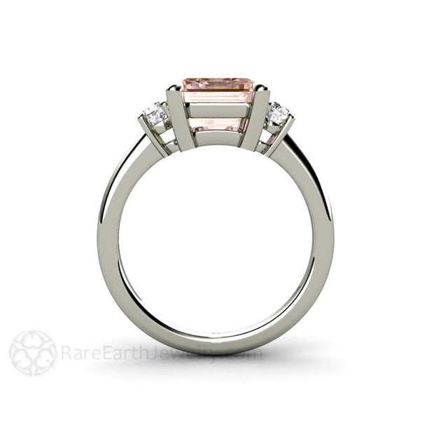 Emerald Cut 3 Stone Setting Custom Engagement Rings