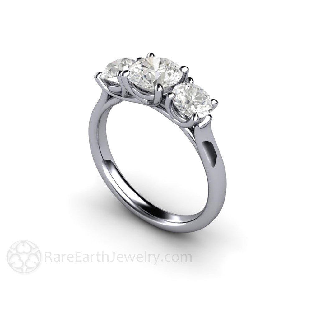 Rare Earth Jewelry Forever One Moissanite Engagement Ring