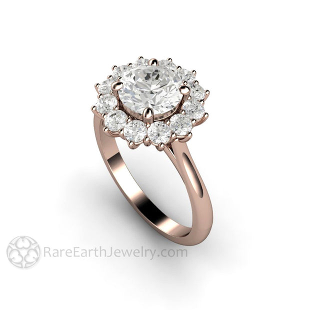 Rare Earth Jewelry 1.25ct Forever One Moissanite Ring Right Hand or Anniversary 14K Rose Gold Conflict Free Diamond Alternative