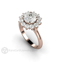 Rare Earth Jewelry 1.25ct Forever One Moissanite Ring Right Hand or Anniversary 14K Rose Gold