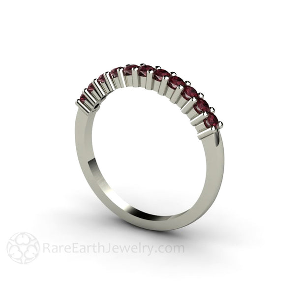 Rhodolite Garnet Stacking Band-January Birthstone Ring Rare Earth Jewelry