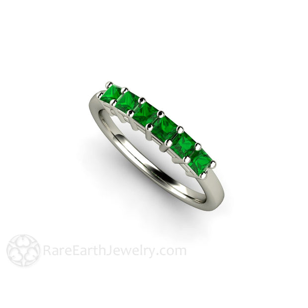 14K Green Garnet Ring Stacking Band Rare Earth Jewelry