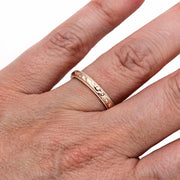 Vintage Antique Style Rose Gold Right Hand Stacking Ring or Wedding Band Rare Earth Jewelry