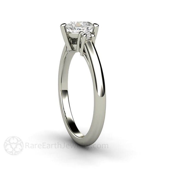 Three Stone Heat Diamond Promise Ring Platinum Setting Rare Earth Jewelry