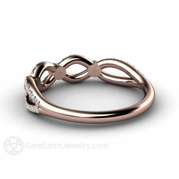 Rare Earth Jewelry Infinity Diamond Stackable Band Stacking Ring