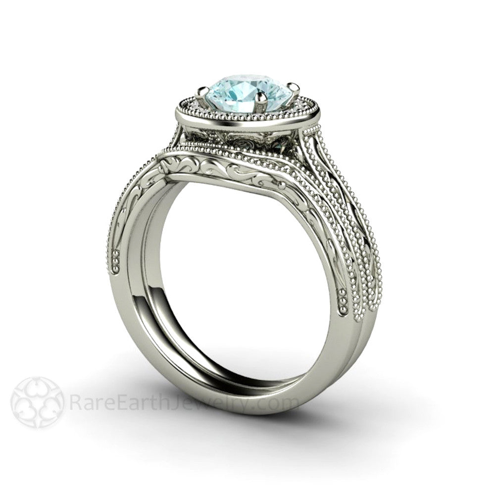 palladium rings wedding original set karenjohnson and by johnson karen ring moissanite product engagement