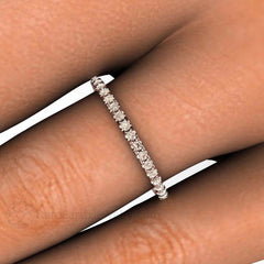 Stackable Band 14K Brown Diamond Ring Rare Earth Jewelry