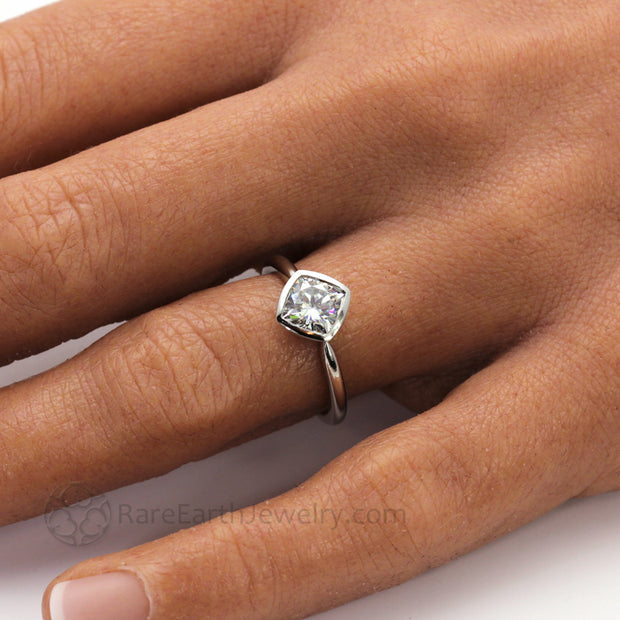 Low Profile Durable Engagement Ring for Active Lifestyles on the Hand