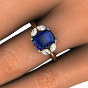 Rare Earth Jewelry Sapphire Cocktail Right Hand Ring
