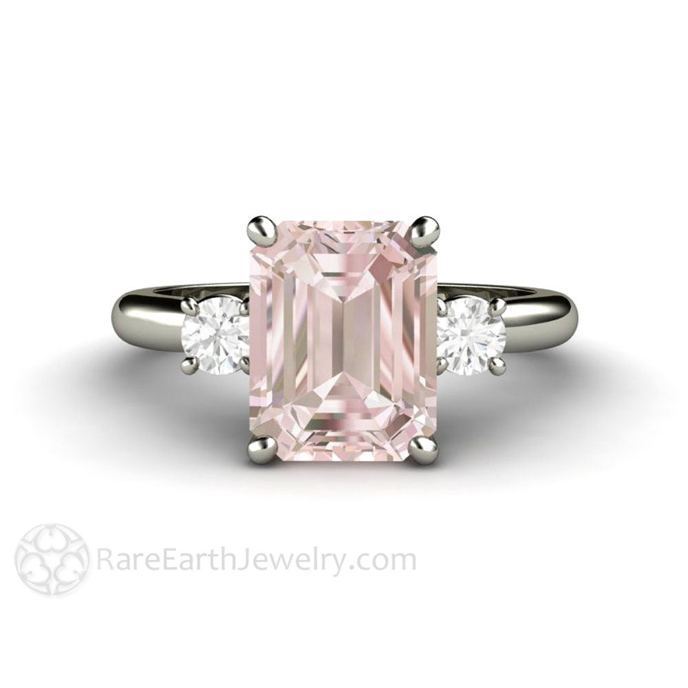 roy gold in rose ring biv g morganite and diamond