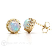 Opal Post Earrings October Birthstone Rare Earth Jewelry