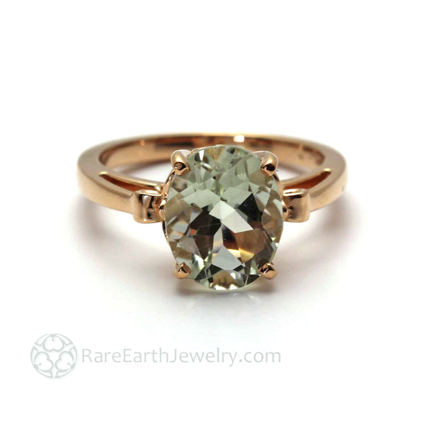 How does green amethyst look in rose gold