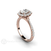 Rare Earth Jewelry Rose Gold Forever One Oval Cut Moissanite Wedding Ring