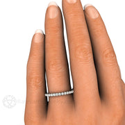 Pave Diamond Ring on Finger Rare Earth Jewelry