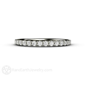 Rare Earth Jewelry Pave Diamond Wedding Ring or Anniversary Band