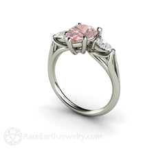 Pink Moissanite Anniversary or Right Hand Ring Rare Earth Jewelry